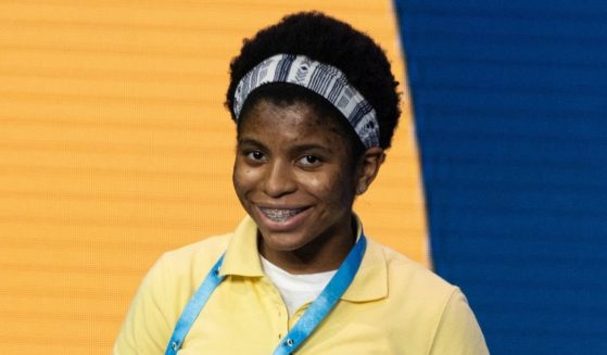 Zaila Avant-garde competes in the first round of the the Scripps National Spelling Bee finals in Orlando, Florida, on July 8, 2021.