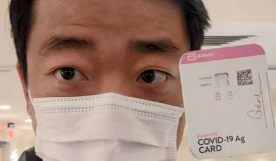 Texas state Rep. Gene Wu masked up in Washington, D.C., after three Democrats tested positive for COVID-19.
