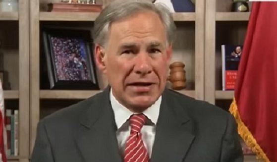"Texas Gov. Greg Abbott is interviewed Sunday on Fox News' ""Sunday Morning Futures."""
