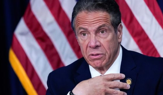 New York Gov. Andrew Cuomo speaks during a news conference in New York City on May 10.