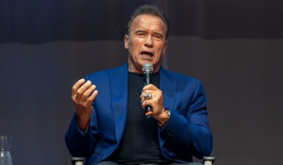 Arnold Schwarzenegger attends a news conference for Arnold Classic Europe 2019 at the theater Victoria on Sept. 20, 2019, in Barcelona, Spain.