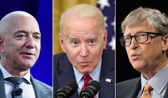 Jeff Bezos, Joe Biden and Bill Gates
