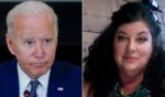 President Joe Biden, left, seen during a meeting at the White House on Thursday, has been accused of sexual assault by former Senate staff member Tara Reade, right.