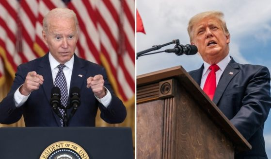 A recent report released on an investigation performed by the RNC's Committee on Election Integrity found that certain policies were put into place ahead of the 2020 election that may have favored now-President Joe Biden, left, over former President Donald Trump.