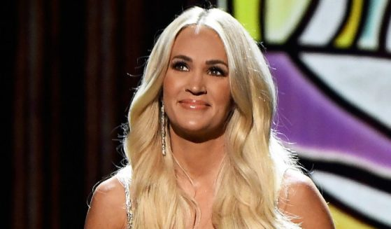 Carrie Underwood performs onstage at the 56th Academy of Country Music Awards at the Grand Ole Opry in Nashville, Tennessee, on April 18.