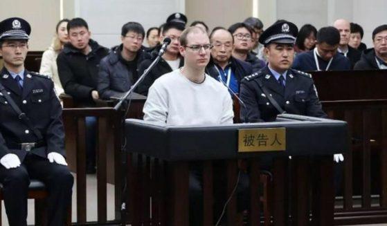 Canadian Robert Lloyd Schellenberg appears before the Dalian Intermediate People's Court in Dalian, China, on Jan. 14, 2019.
