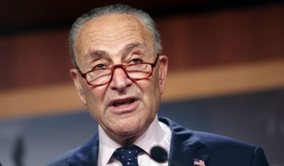 Senate Majority Leader Charles Schumer speaks at a news conference at the U.S. Capitol on Aug. 11, 2021, in Washington, D.C.