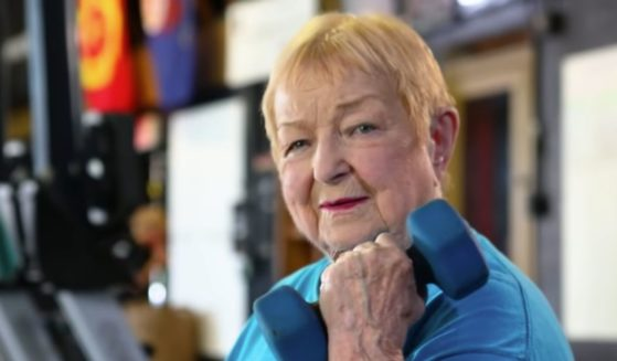 Edith Murway-Traina, a 100-year-old woman who still competes in weightlifting competitions and was recently recognized by Guinness World Records.