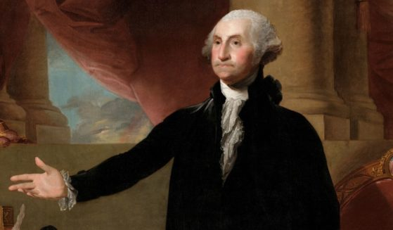 Pictured above is a portrait of George Washington at age 64 renouncing his third term as president by Gilbert Stuart (oil on canvas from the White House Collection), 1779.