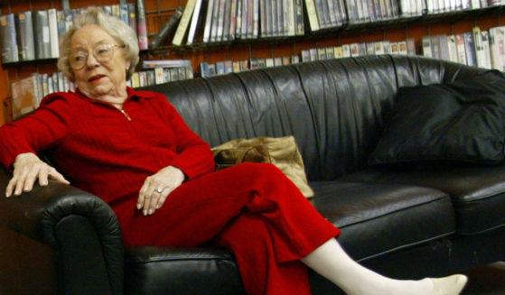 Actress Patricia Hitchcock O'Connell speaks to fans of director Alfred Hitchcock during a DVD signing at Rocket Video on October 5, 2005 in Hollywood, California.