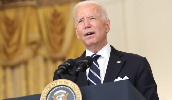 President Joe Biden delivers remarks in the East Room of the White House on Wednesday in Washington, D.C.