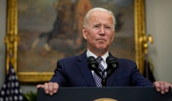 President Joe Biden speaks about the situation in Afghanistan in the Roosevelt Room of the White House on Tuesday in Washington, D.C.
