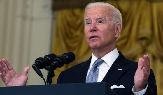 President Joe Biden speaks about the catastrophic U.S. withdrawal from Afghanistan in the East Room of the White House in Washington on Monday.