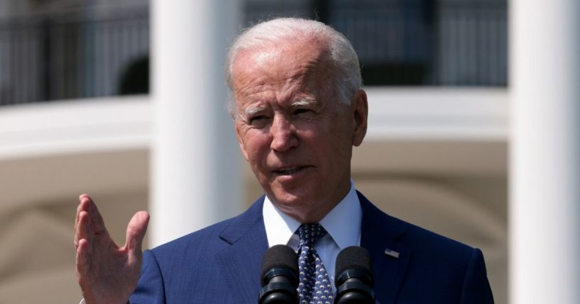 President Joe Biden delivers remarks during an event on the South Lawn of the White House on Aug. 5, 2021, in Washington, D.C.