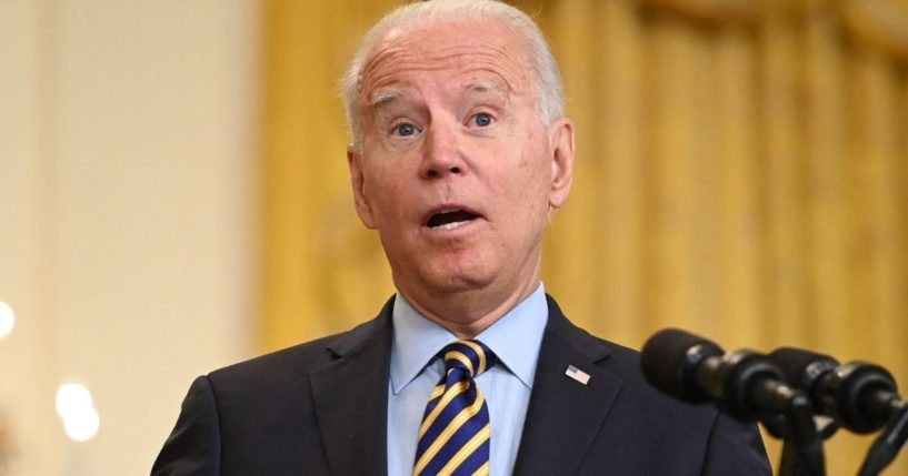 President Joe Biden speaks about the situation in Afghanistan from the East Room of the White House in Washington, D.C., on July 8, 2021.