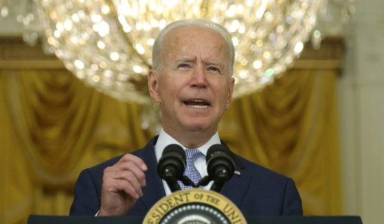 President Joe Biden delivers remarks during an East Room event at the White House on Thursday in Washington, D.C.