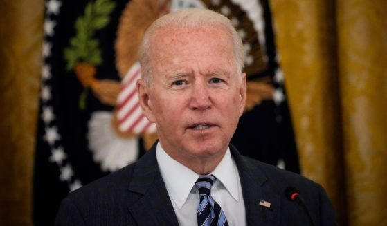 President Joe Biden speaks during a meeting about cybersecurity in the East Room of the White House on Wednesday.