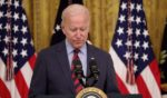 President Joe Biden speaks during an event in the East Room of the White House on Tuesday in Washington, D.C.