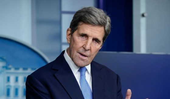 Special Presidential Envoy for Climate John Kerry speaks during a news briefing at the White House on Jan. 27, 2021 in Washington, D.C.