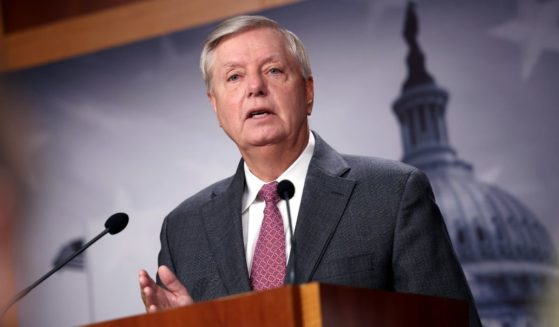 Sen. Lindsey Graham speaks at a news conference at the U.S. Capitol on Friday in Washington, D.C.