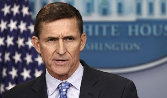 Then-National Security Advisor Michael Flynn answers questions in the briefing room of the White House on Feb. 1, 2017.