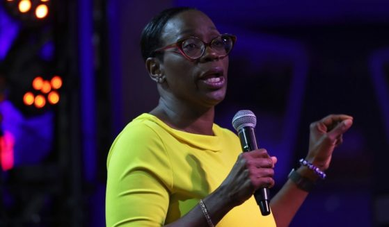 Former Ohio state Sen. Nina Turner gives her concession speech after losing to Cuyahoga County Council member Shontel Brown the Democratic primary for Ohio's 11th Congressional District on Tuesday in Maple Heights, Ohio.