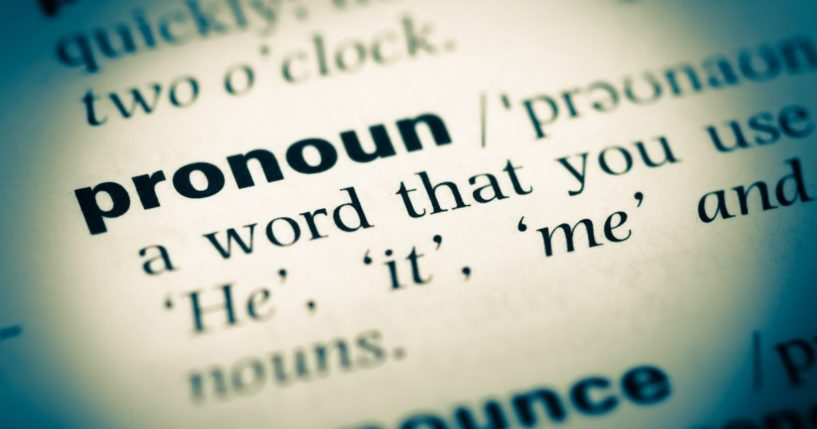 """A dictionary entry for the word """"pronoun"""" is pictured in the stock image above."""