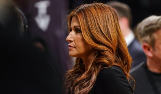 Rachel Nichols films before an NBA game between the Boston Celtics and the Los Angeles Lakers at Staples Center on March 9, 2019, in Los Angeles.