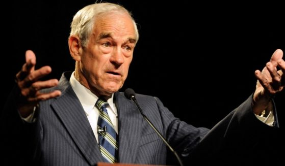 Rep. Ron Paul of Texas speaks to members of the Clark County Republican Party at the Silverton Casino Lodge May 17, 2011, in Las Vegas.