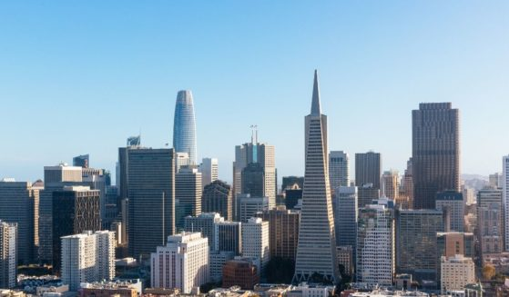The San Francisco skyline is seen in this stock image.