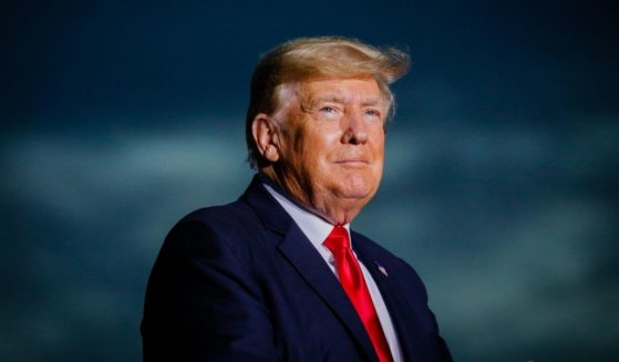 Former President Donald Trump arrives to hold a rally on July 3, 2021, in Sarasota, Florida.