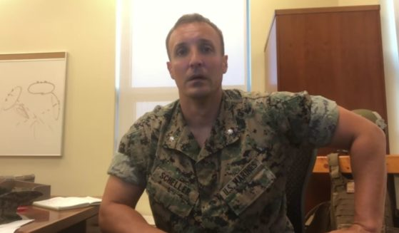 Fired U.S. Marine Stuart Scheller posts a video to Facebook on Thursday, discussing the situation in Afghanistan.