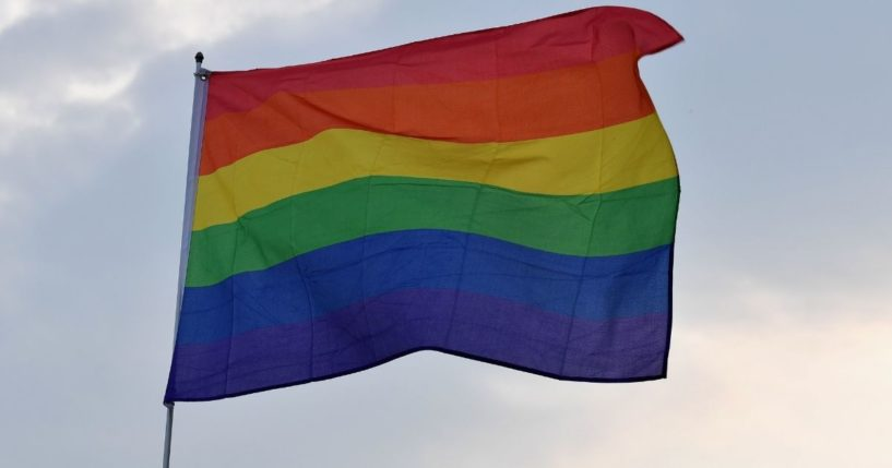A rainbow flag, the symbol of gay activism, is pictured in a 2019 file photo.