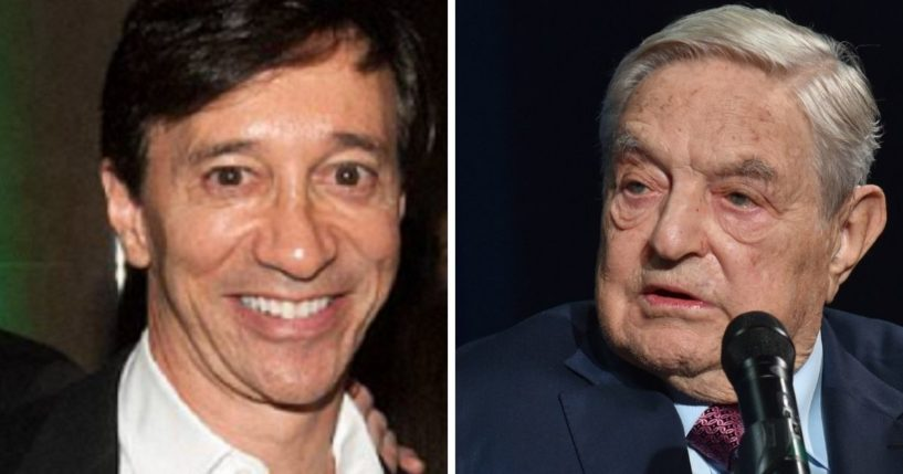 Money manager Howard Rubin, left; leftist billionaire George Soros, right.