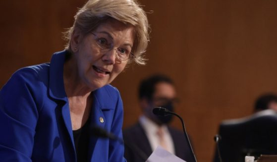 U.S. Sen. Elizabeth Warren, a Democrat from Massachusetts, speaks during a hearing before the Senate Banking, Housing and Urban Affairs Committee in Washington, D.C., on Aug. 3, 2021.