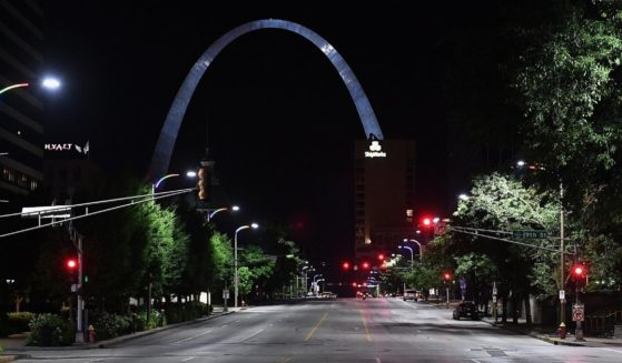 A photo taken on June 2, 2020, shows an empty street in St. Louis, Missouri.