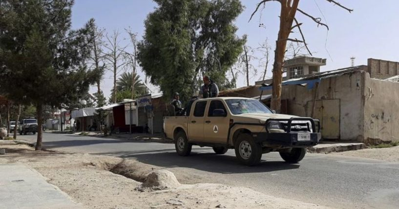 A street in the Lashkar Gah, Helmand province in southern Afghanistan is depicted in this photo taken on Tuesday.