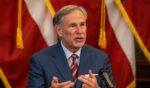 Texas Republican Gov. Greg Abbott speaks about the COVID-19 pandemic on May 18, 2020, in Austin.