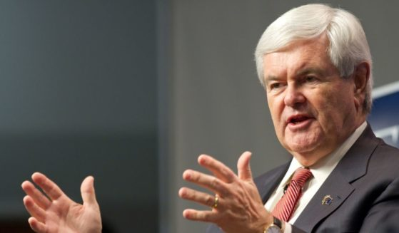 Former Speaker of the House Newt Gingrich speaks during an interview at the New Hampshire Institute of Politics at Saint Anselm College on Jan. 4, 2012, in Manchester, New Hampshire.