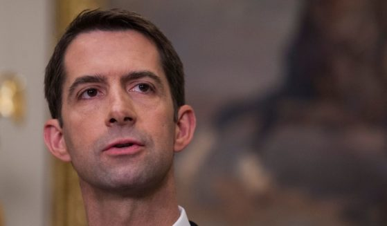 Sen. Tom Cotton makes an announcement on the introduction of the Reforming American Immigration for a Strong Economy (RAISE) Act in the Roosevelt Room at the White House on Aug. 2, 2017, in Washington, D.C.