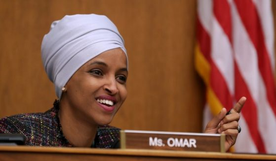 Minnesota Democratic Rep. Ilhan Omar questions witnesses during a hearing in the Rayburn House Office Building on Capitol Hill May 16, 2019, in Washington, D.C.