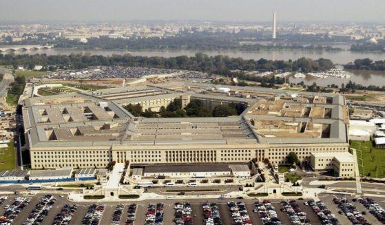 Aerial photo of the Pentagon in Arlington, Virginia, on Sept. 26, 2003.