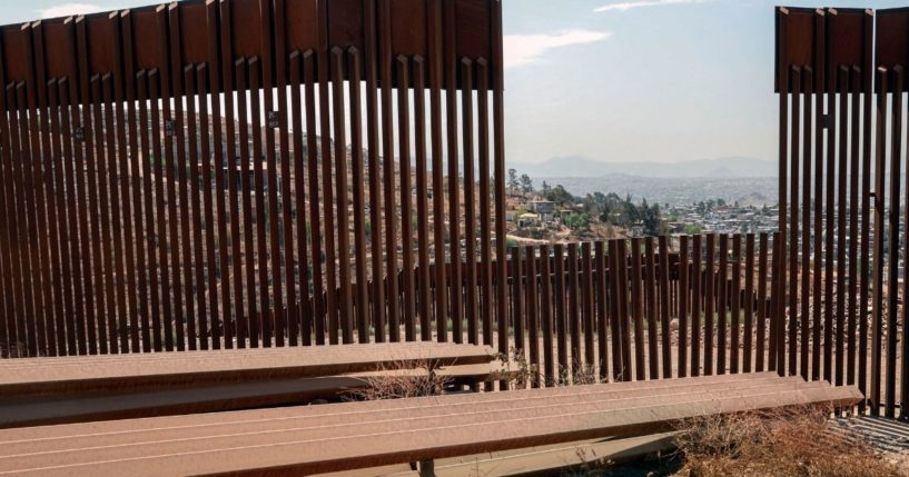 The U.S.-Mexico border wall in Otay Mesa, California, is seen Aug. 13.