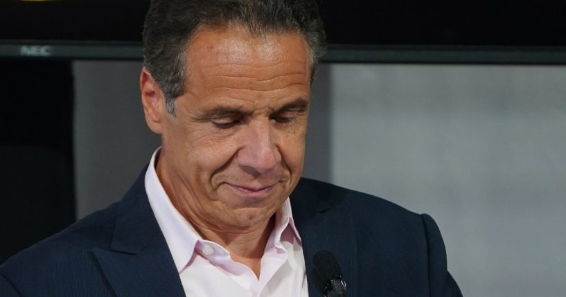 New York Gov. Andrew Cuomo is seen at the Tribeca Film Festival in New York City in a photo taken on June 9, 2021.