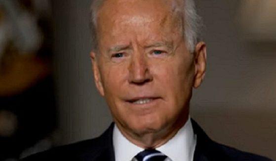 President Joe Biden is interviewed by ABC's George Stephanopoulos.