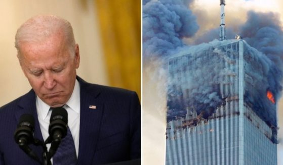White House press secretary Jen Psaki has confirmed that President Joe Biden, left, will not deliver a live speech on the 20th anniversary of the Sept. 11, 2001, terrorist attacks on the Pentagon and the World Trade Center.