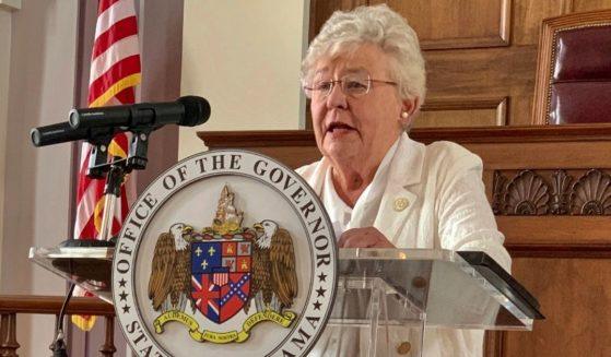 Alabama Gov. Kay Ivey is seen speaking at a news conference on July 29, 2020. Ivey's campaign Facebook account was briefly deleted last week.