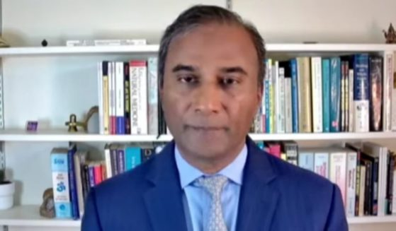 Dr. Shiva Ayyadurai, the founder of EchoMail, presents findings during the Arizona audit Livestream.