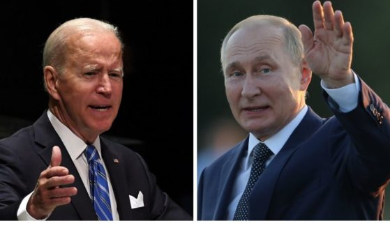 President Joe BIden's State Department issued a harsh criticism regarding the integrity of the Russian election that provided a majority of votes to Vladimir Putin, shown at right.