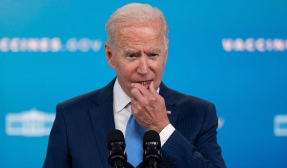 """President Joe Biden, seen in a file photo from a White House appearance Aug. 23, 2021, was fact-checked by the liberal, left-leaning Washington Post after claiming that his proposed $3.5-trillion budget will carry a price tag of """"zero."""""""